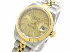 ロレックス ROLEX 腕時計 デイトジャスト 79173 レディース 18コマ+余り3コマ ゴールド【中古】