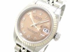 ロレックス ROLEX 腕時計 デイトジャスト 79174 レディース K18WG×SS/20コマ(1コマ落ち)/ビッグローマ文字盤 ピンク【中古】