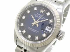 ロレックス ROLEX 腕時計 デイトジャスト 69174G レディース ブルー【中古】