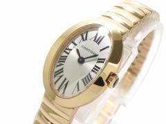 カルティエ Cartier 腕時計 美品 ベニュワールSM W8000005 レディース 金無垢/新型 シルバー【中古】