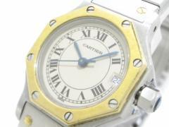 カルティエ Cartier 腕時計 サントスオクタゴン - レディース SS×K18YG アイボリー【中古】