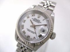 ロレックス ROLEX 腕時計 デイトジャスト 69174 レディース K18WG×SS/20コマ(1コマ落ち)/ホワイトローマン 白【中古】