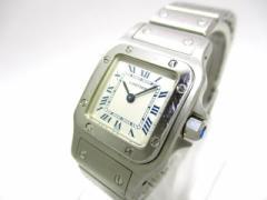 カルティエ Cartier 腕時計 サントスガルベSM W20017D6 レディース SS 白【中古】