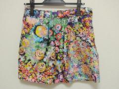 シーバイクロエ SEE BY CHLOE スカート サイズ40(I) M レディース 新品同様 レッド×グリーン×マルチ シルク/花柄【中古】
