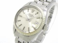 ロレックス ROLEX 腕時計 オイスターパーペチュアルデイト 6917 レディース SS×K18WG/19コマ+余り3コマ(フルコマ)/プラ風防【中古】