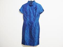 セラヴィ CEST LAVIE ドレス サイズ9 M レディース 美品 ダークネイビー×ブルー チャイナドレス【中古】