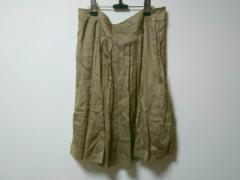 フォクシー FOXEY スカート サイズ42 L レディース ダークグリーン プリーツ【中古】