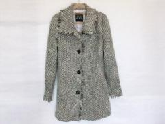 セシルマクビー CECILMcBEE コート レディース 黒×白×ベージュ 冬物【中古】