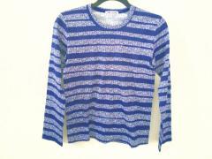 コムデギャルソン COMMEdesGARCONS 長袖Tシャツ サイズS レディース 美品 ネイビー×ライトブルー×マルチ ボーダー【中古】