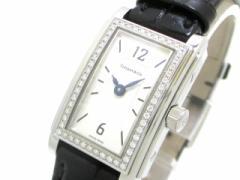 ティファニー TIFFANY&Co. 腕時計 美品 グランド - レディース ダイヤベゼル/アリゲーターベルト 白【中古】