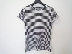 セオリー theory 半袖Tシャツ サイズS レディース 美品 白×ダークネイビー ボーダー【中古】