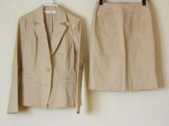 ナチュラルビューティー ベーシック NATURAL BEAUTY BASIC スカートスーツ サイズM レディース 美品 グレーベージュ【中古】