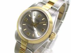 ロレックス ROLEX 腕時計 オイスターパーペチュアル 67183 レディース K18YG×SS/11コマ(2コマ落ち) シルバー【中古】
