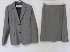 ナチュラルビューティー ベーシック NATURAL BEAUTY BASIC スカートスーツ サイズM レディース 美品 黒×グレー【中古】