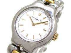 ティファニー TIFFANY&Co. 腕時計 テソロ L0112 レディース 白【中古】