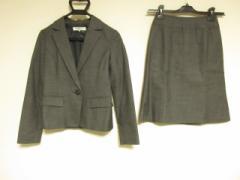 ナチュラルビューティー ベーシック NATURAL BEAUTY BASIC スカートスーツ レディース ダークグレー【中古】