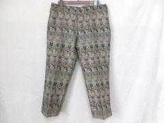 ジルサンダー JILSANDER パンツ サイズ38 S レディース グレー×マルチ 七分丈/刺繍【中古】