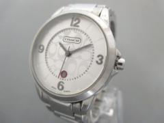 コーチ COACH 腕時計 シグネチャー柄 0292.1 レディース シルバー【中古】