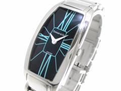 ティファニー TIFFANY&Co. 腕時計 ジェメア Z6401.10.10A19A00A レディース 黒×ライトブルー【中古】