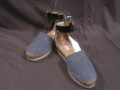 シーバイクロエ SEE BY CHLOE 靴 37 レディース ブルー×白×黒 キャンバス×レザー【中古】