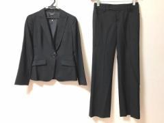 ボッシュ BOSCH レディースパンツスーツ レディース 美品 黒×ライトグレー ストライプ【中古】