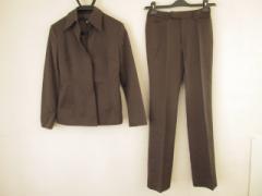 ミッシェルクラン MICHELKLEIN レディースパンツスーツ サイズ38 M レディース ダークブラウン【中古】