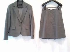 エニシス anySiS スカートスーツ サイズ3 L レディース グレー×黒【中古】