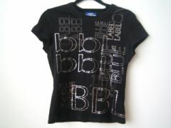 バーバリーブルーレーベル Burberry Blue Label 半袖Tシャツ サイズ30 XS レディース 美品 黒×シルバー【中古】