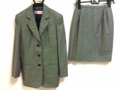 オールドイングランド OLD ENGLAND スカートスーツ サイズ36 S レディース ライトグレー×黒【中古】
