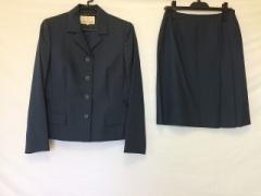トラサルディー TRUSSARDI スカートスーツ サイズ42 M レディース ブルーグレー 肩パッド【中古】