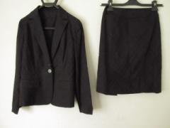 バーバリーロンドン Burberry LONDON スカートスーツ サイズ38 L レディース 黒 3点セット【中古】