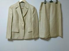 ポールスチュアート PaulStuart スカートスーツ サイズ6 M レディース 美品 ベージュ 麻混【中古】