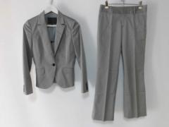 アンタイトル UNTITLED レディースパンツスーツ サイズ2 M レディース グレー 肩パッド【中古】