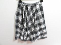 コムデギャルソン コムデギャルソン COMMEdesGARCONS COMMEdesGARCONS スカート サイズS レディース 美品 黒×白 チェック柄【中古】