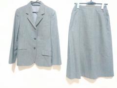 マーガレットハウエル MargaretHowell スカートスーツ サイズ2 M レディース 美品 グレー 肩パッド【中古】