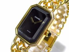 シャネル CHANEL 腕時計 プルミエール - レディース サイズ:M 黒【中古】