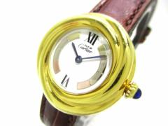 カルティエ Cartier 腕時計 トリニティヴェルメイユ - レディース 925/社外ベルト 白【中古】