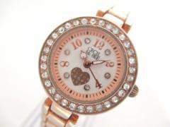 セシルマクビー CECILMcBEE 腕時計 CM013 レディース ラインストーン アイボリー【中古】