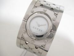 グッチ GUCCI 腕時計 美品 トワールウォッチ 112 レディース 白【中古】