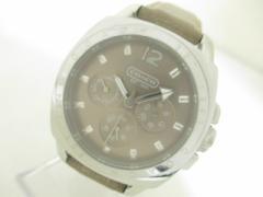 コーチ COACH 腕時計 - CA.43.3.14.0444 レディース トリプルカレンダー/革ベルト グレージュ【中古】