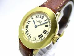 カルティエ Cartier 腕時計 マスト - レディース 革ベルト アイボリー【中古】