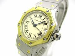 カルティエ Cartier 腕時計 サントスオクタゴン 187903 レディース SS×K18YG ベージュ【中古】