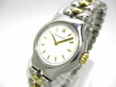 ティファニー TIFFANY&Co. 腕時計 テソロ L0112 レディース SS × K18YG 白×K18YG【中古】