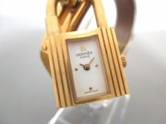 エルメス HERMES 腕時計 ケリーウォッチ - レディース 革ベルト/○X 白【中古】