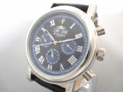 st.patrick セントパトリック 腕時計 - メンズ 革ベルト 黒【中古】