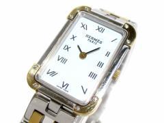 エルメス HERMES 腕時計 クロアジュール CR1.220 レディース 白【中古】