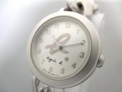 アニエスベー agnes b 腕時計 美品 V401-0850 レディース シルバー【中古】