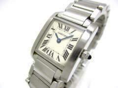 カルティエ Cartier 腕時計 タンクフランセーズSM W51008Q3 レディース 白【中古】