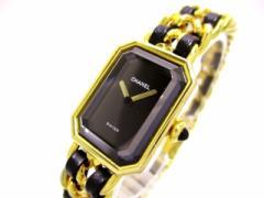 シャネル CHANEL 腕時計 プルミエール H0001 レディース サイズ:L 黒【中古】