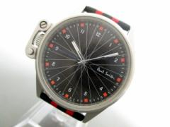 ポールスミス PaulSmith 腕時計 E031-S074258 メンズ ラバーベルト 黒【中古】